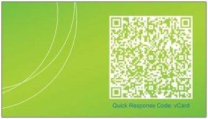 Código QR en tarjeta de visita