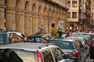 Atasco de tráfico en la ciudad