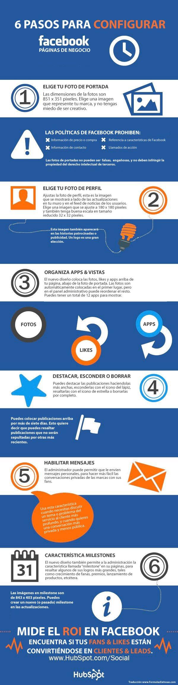 6 pasos para configurar Facebook