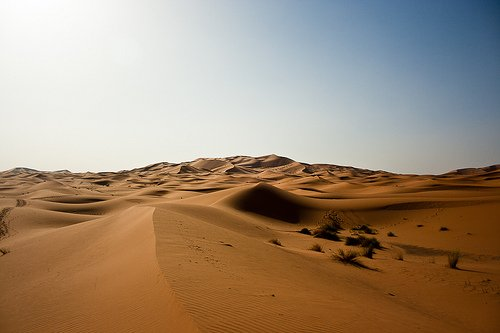 Desierto y arena